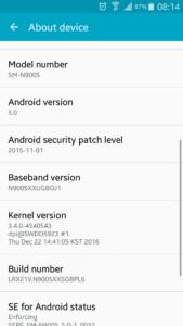Smartphone Samsung SM-N9005