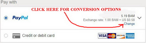Paypal conversion option
