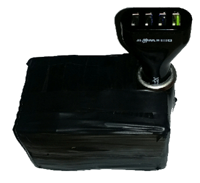 Battery pack with car charger